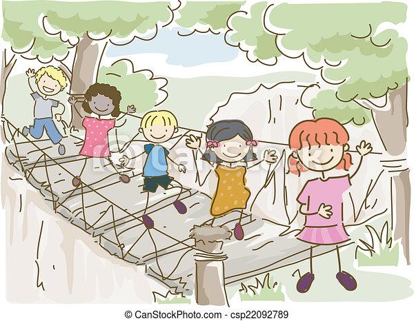 ponte, avventura, appendere - csp22092789