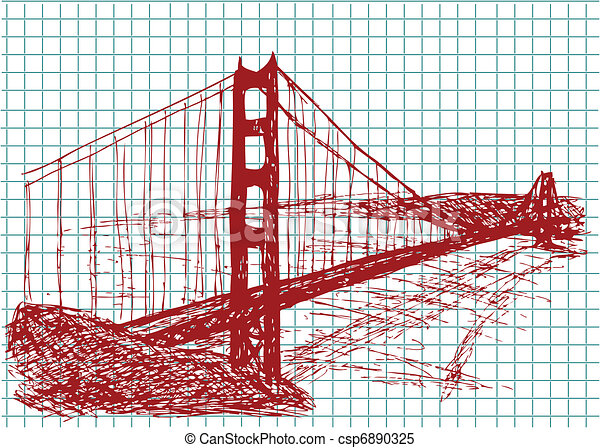 ponte, cancello, dorato - csp6890325