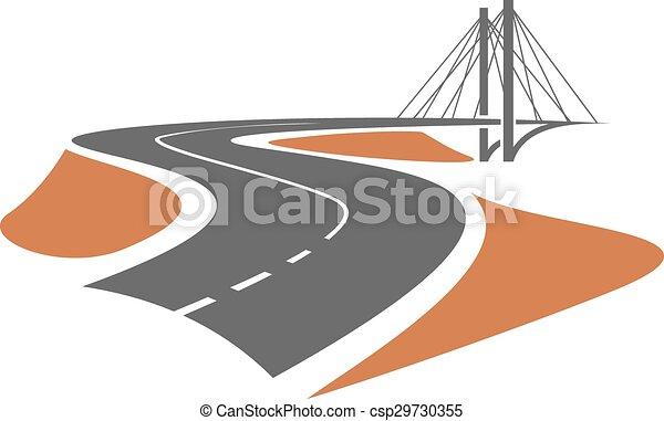 ponte cavo-stare, strada, condurre - csp29730355