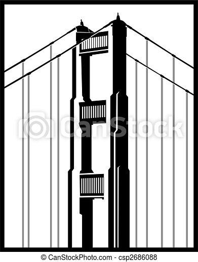 ponte, icona, cancello, dorato - csp2686088