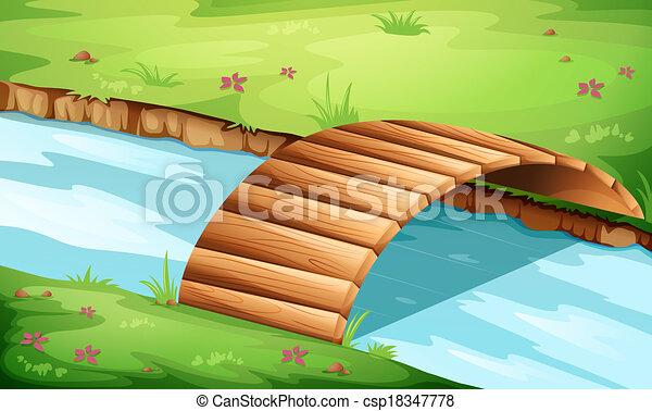 ponte legno, fiume - csp18347778