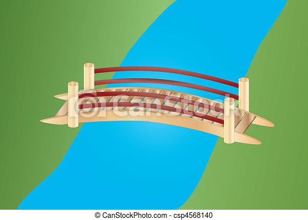 ponte, poco, sopra, insenatura - csp4568140