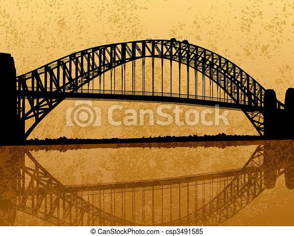 ponte, porto sydney - csp3491585