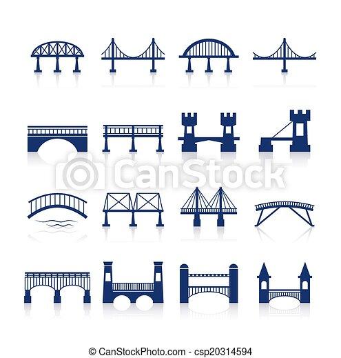 ponte, set, icone - csp20314594