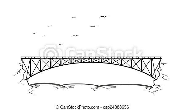 ponte, sopra, fiume - csp24388656