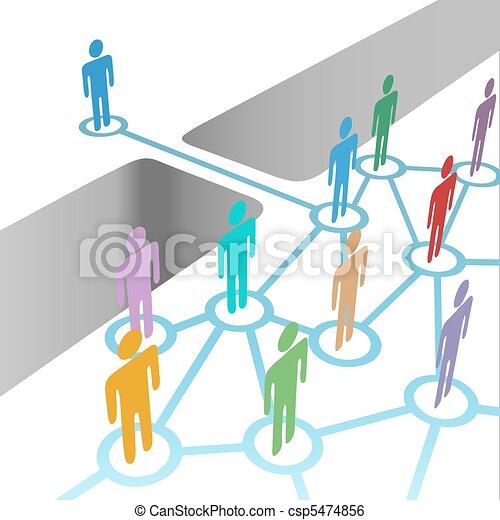 ponte, unire, rete, fusione, appartenenza, diverso - csp5474856