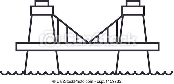 ponte, vettore, colpi, editable, britannico, segno, fondo, illustrazione, icona, linea - csp51159733