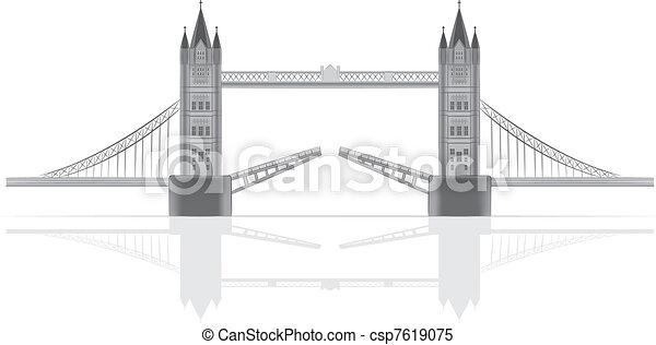 ponte, vettore, illustrazione - csp7619075