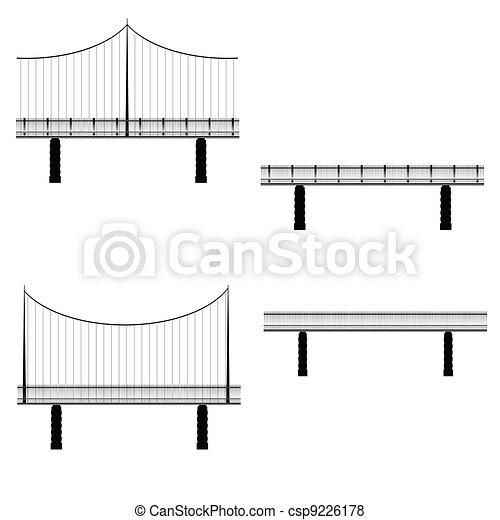 ponte, vettore, illustrazione - csp9226178