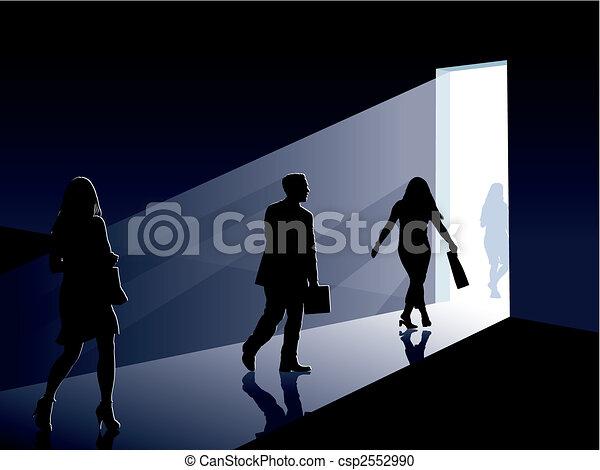 porta, persone - csp2552990