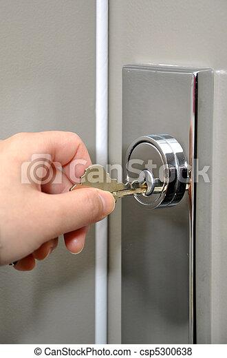 porta, sbloccando - csp5300638