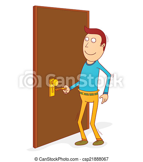porta, sbloccando - csp21888067