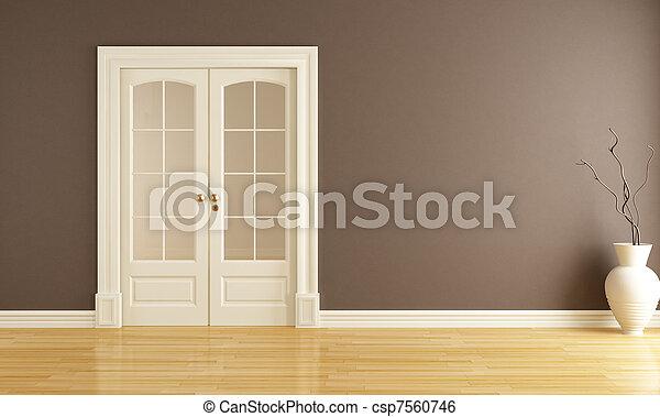 porta, scorrevole, vuoto, interno - csp7560746