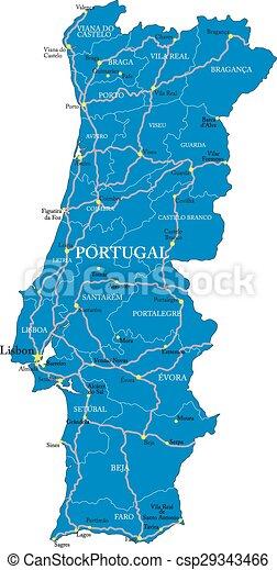 Portogallo Cartina Fisica E Politica.Mappa Portogallo Politica