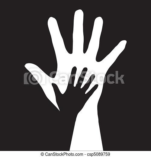 porzione, hands. - csp5089759
