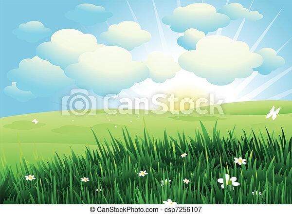 primavera, paesaggio - csp7256107