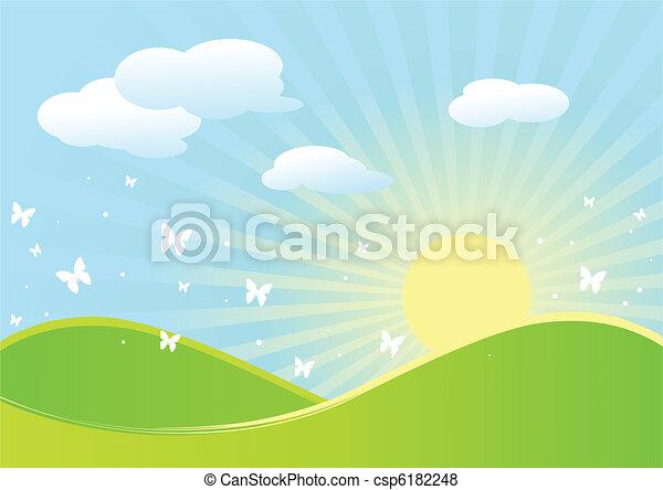 primavera, paesaggio - csp6182248
