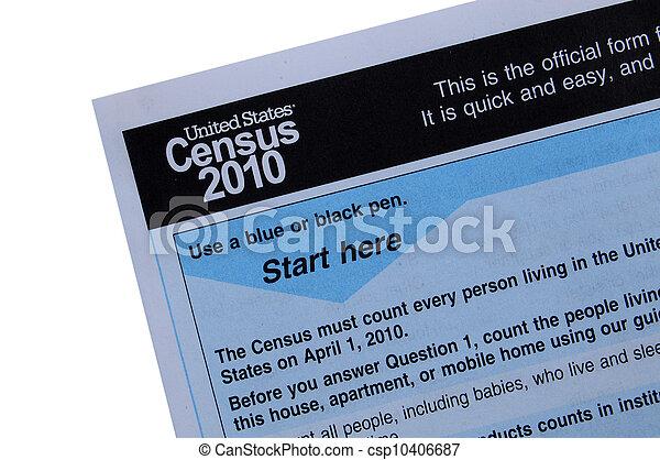 primo piano, census, 2010, forma - csp10406687
