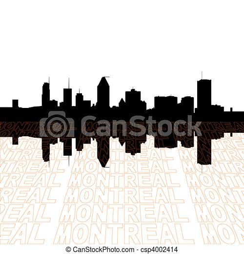 primo piano, contorno, testo, orizzonte, prospettiva, montreal - csp4002414