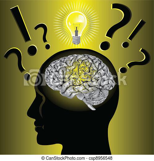 problema, cervello, risolvere, idea - csp8956548