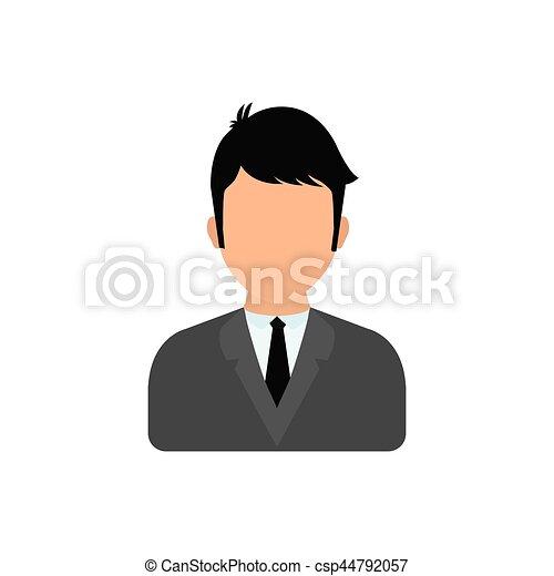 profilo, uomo affari, esecutivo - csp44792057