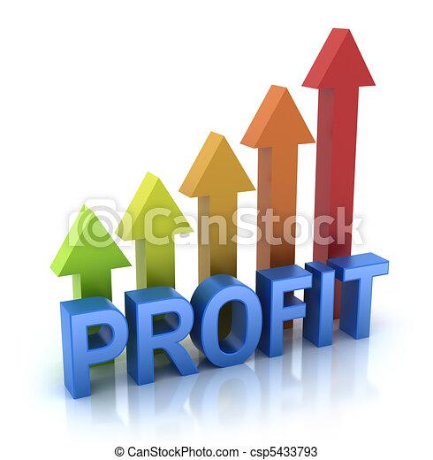 profitto, grafico, concetto, colorito - csp5433793