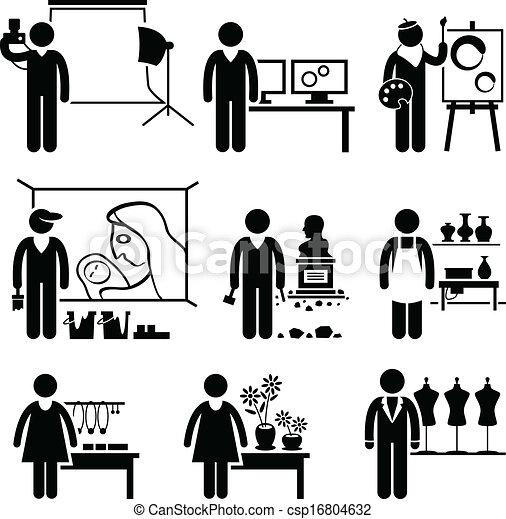 progettista, lavori, artistico, occupazioni - csp16804632