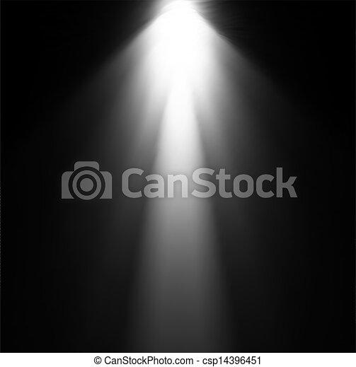 projector., luce, vettore, illustrazione, trave - csp14396451