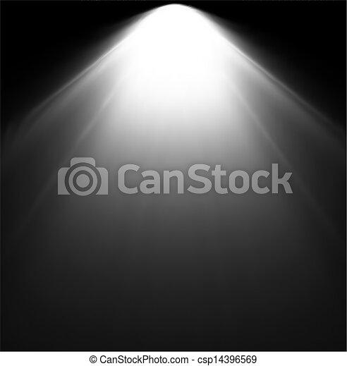 projector., luce, vettore, illustrazione, trave - csp14396569