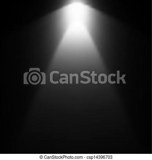 projector., luce, vettore, illustrazione, trave - csp14396703