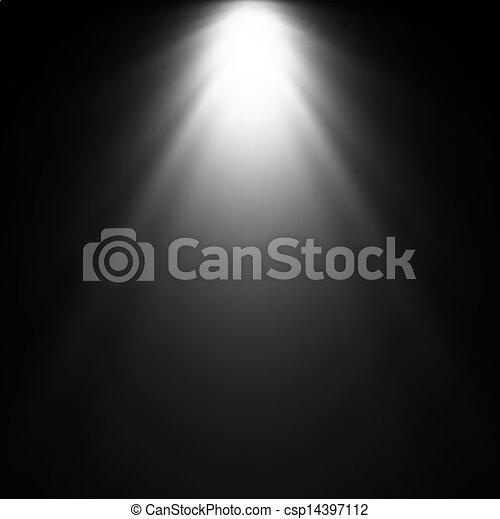 projector., luce, vettore, illustrazione, trave - csp14397112