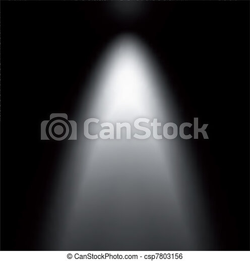 projector., luce, vettore, illustrazione, trave - csp7803156