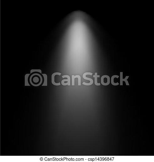 projector., luce, vettore, illustrazione, trave - csp14396847