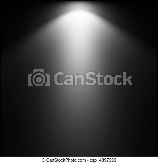 projector., luce, vettore, illustrazione, trave - csp14397333