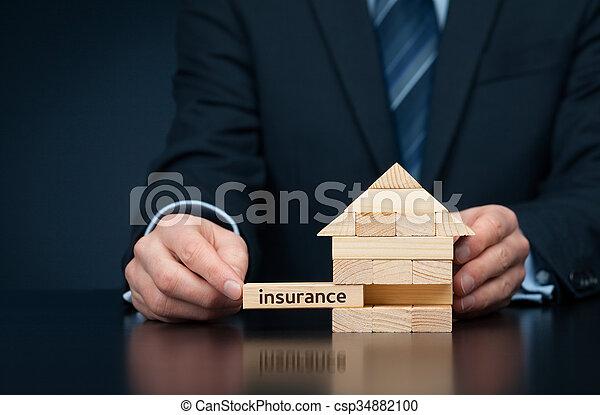 proprietà, assicurazione - csp34882100