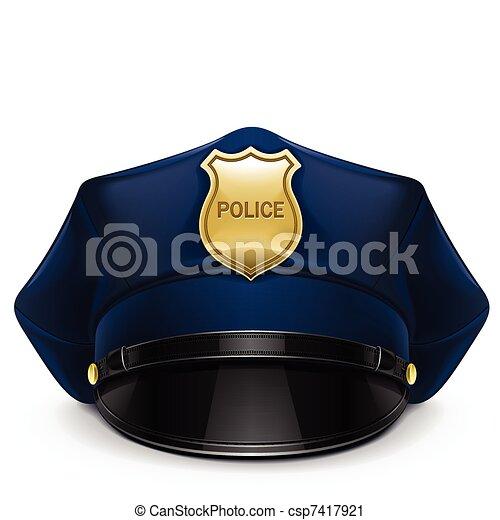 protezione alzata, polizia, coccarda - csp7417921