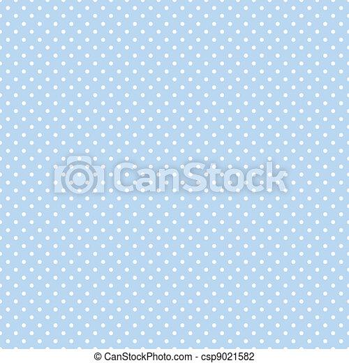 punti, blu, pastello, seamless, polka - csp9021582