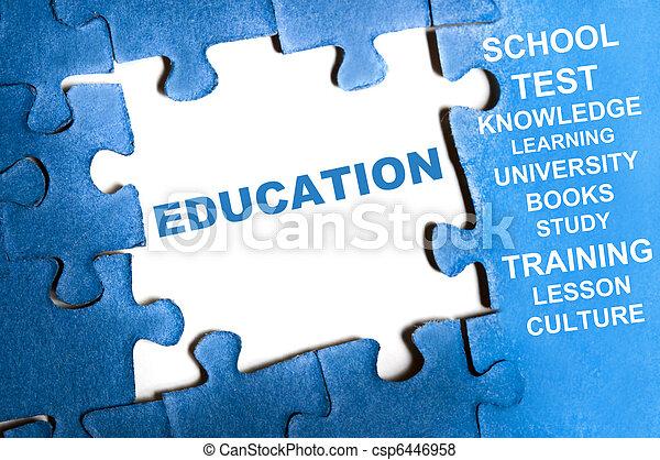 puzzle, educazione - csp6446958
