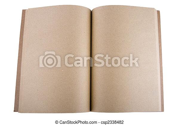 quaderno, aperto - csp2338482