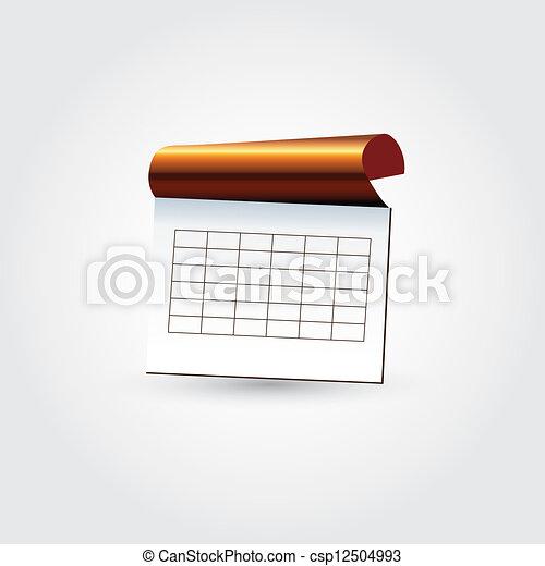 quaderno, icona - csp12504993