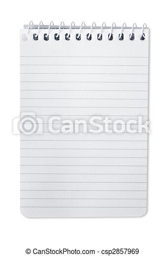 quaderno, spirale - csp2857969