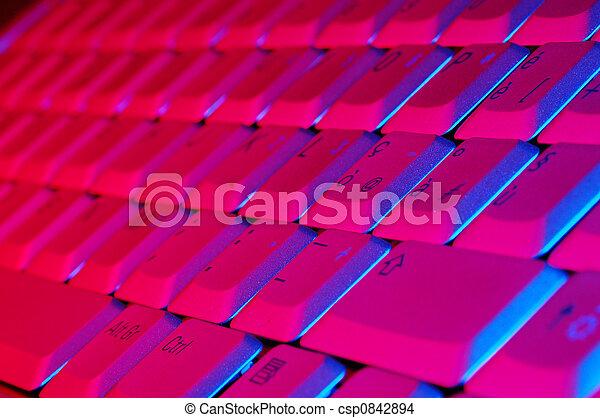 quaderno, tastiera - csp0842894