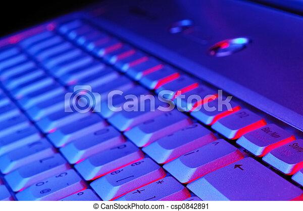 quaderno, tastiera - csp0842891