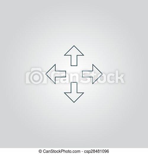 quattro, indicazione, frecce, icona - csp28481096