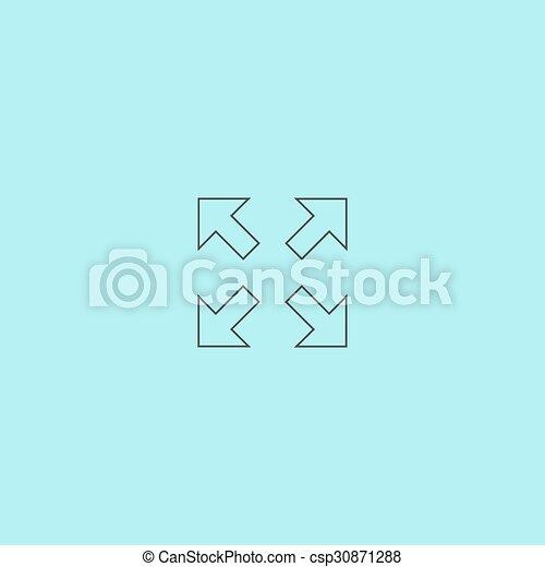 quattro, indicazione, frecce, icona - csp30871288