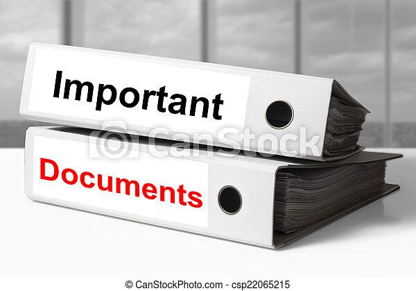 raccoglitori, importante, documenti, ufficio - csp22065215