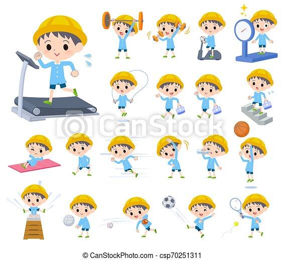 ragazzo, esercizio, scuola materna - csp70251311