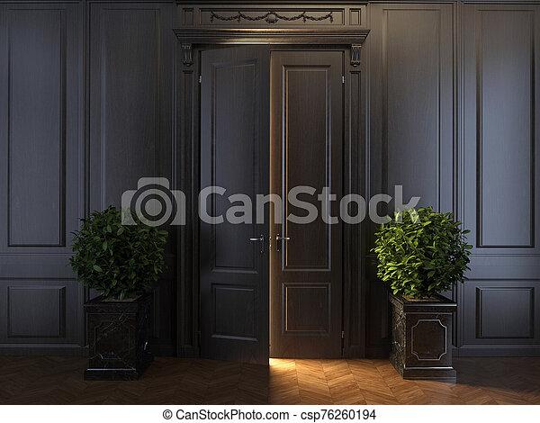 raggi luminosi, porta, dietro - csp76260194