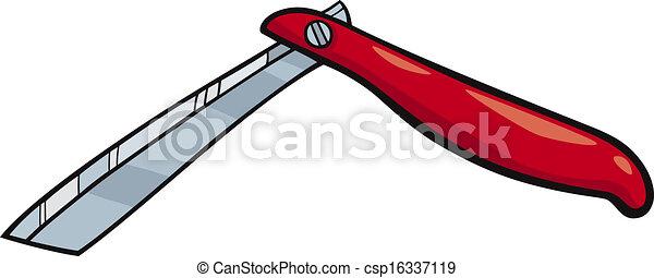 rasoio, arte clip, cartone animato, illustrazione - csp16337119