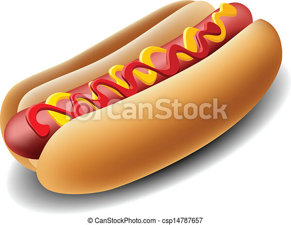 realistico, hot dog - csp14787657